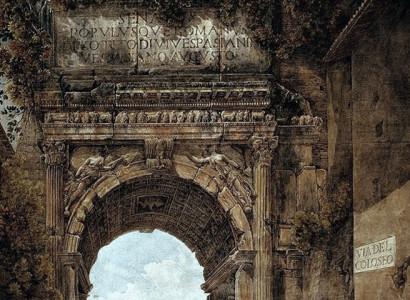 Ducros (1748-1810) Arco di Tito prima del restauro ottocentesco