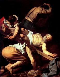 Caravaggio - Crocifissione di San Pietro. Roma Barocca