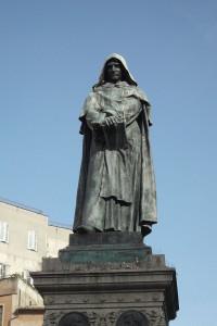 Roma - monumento a Giordano Bruno. Roma Barocca