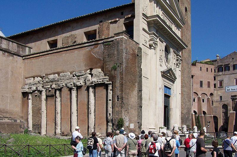 Il tempio di Spes nel Foro Olitorio.