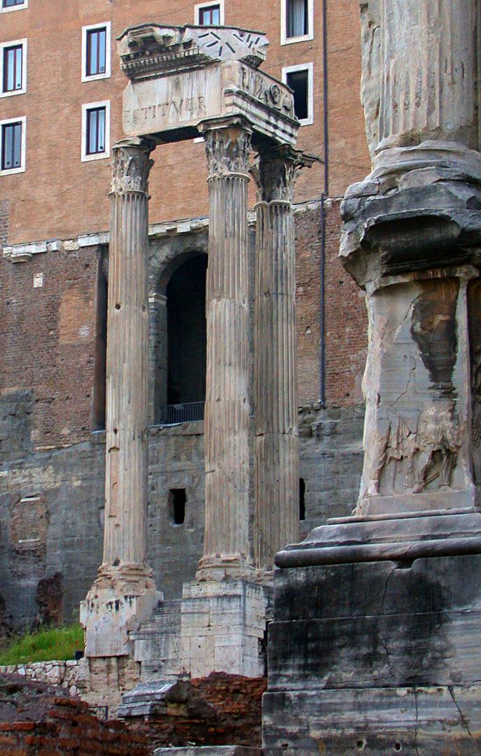 Il Tempio del Divo Vespasiano