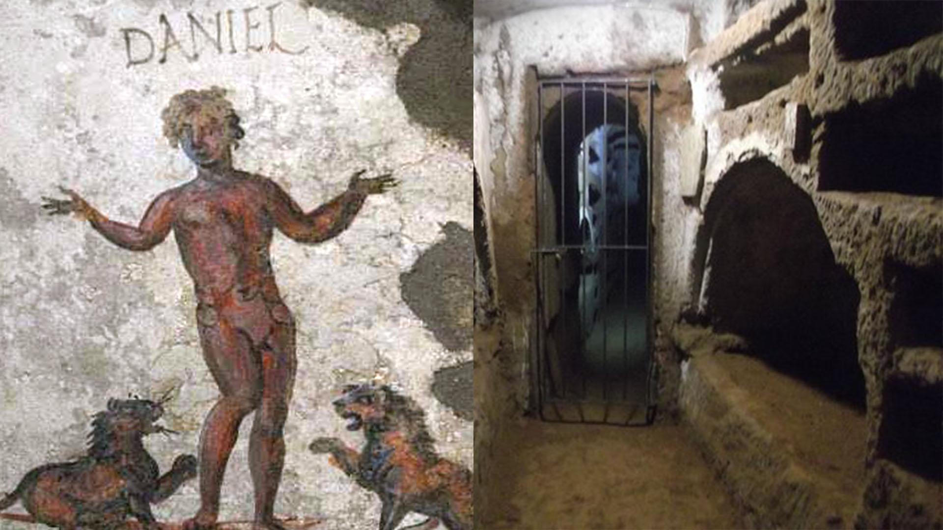 Catacombe Santi Marcellino e Pietro. Torpignattara.